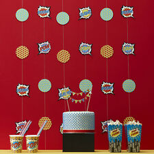 Superhero Childrens Birthday Party Decorations, Backdrop, Bunting!