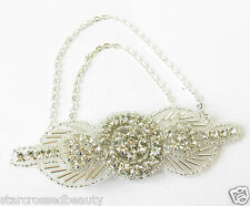 Silver Chain Brooch or Hair Clip 1920s Flapper Great Gatsby Dress Headpiece R82