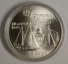 1973 Canada RCM 5 Dollar Silver 1976 Montreal Olympic Games Silver Coin