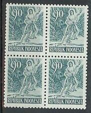 Indonesia 1953 Sc# 386 Mythological Hero 90s block 4 MNH