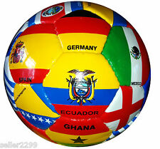 1 NEW WORLD CUP 2014  COUNTRY FLAG SOCCER BALL 32 Panel size 4