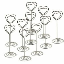 10 Crystal Heart Themed Place Card Holders Wedding Favors Placecard Holders