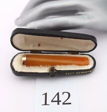 Bernstein Butterscotch Zigarettenspitze Box cigarette holder Amber 老琥珀 烟嘴 Silver