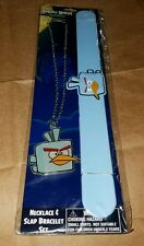 ANGRY BIRDS SPACE NECKLACE AND SLAP BRACELET SET