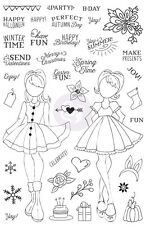 Prima Julie Nutting Planner Holiday Bliss Clear Stamps Valentina Candie Dolls