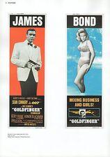 "2002 Vintage JAMES BOND 007 ""GOLDFINGER"" USA MINI POSTERS Art Plate Lithograph"
