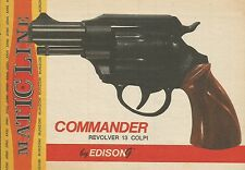 X9940 Commander Revolver - EDISON Match Line - Pubblicità 1976 - Advertising
