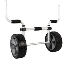 Adjustable Sit-On-Top Kayak Canoe Aluminum Scupper Dolly Cart Carrier Troll