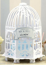 VINTAGE BIRD CAGE WEDDING CARD POST BOX. WHITE