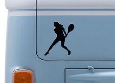 Tenis De Mujer #3 Vinilo calcomanía adhesivo con el logotipo de tenis de Wimbledon Camper VW insignia de van