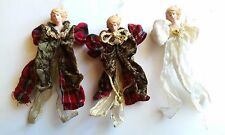 Vintage Hand Crafted Silvestri Old World Angel Ornaments (3)