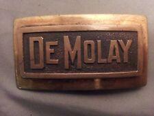 Vintage DeMolay Marked Silvertop Belt Buckle