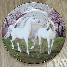 1992 PRIMAVERA PASTURE EL UNICORNIO Placa Enchanted Mundo Ruth Sanderson
