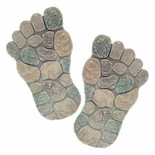 Set of 2 Decoration Feet Foot Garden Stepping Stone Paving Decking Slab Steps