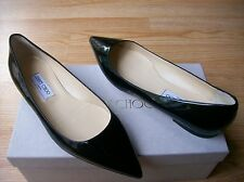 $550 Jimmy Choo Alina Shoes Pointy Toe Flats Patent Leather 38.5 US 8.5 NIB