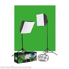 Foto Basics Ulite Foto Y Video Pantalla Verde Kit De Iluminación 405a