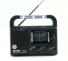 DEGEN DE16 World Receiver FM/FML MW SW Crank Dynamo Solar Emergency LED Radio as