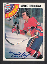 Mario Tremblay Hand Signed 1978-79 O-Pee-Chee Card #376 Canadians In Person Auto