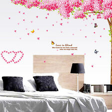 Pink Blossom Flower Tree Wall Sticker Art Mural Home Decor Sweet Room Decal