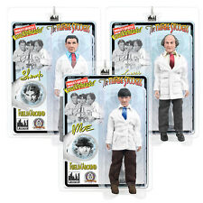 The Three Stooges Mego Style 8 Inch Action Figures Fuelin' Around Set of 3