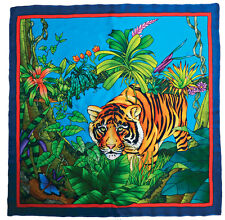Silk Painting- Silk Scarf Pre-printed with gutta- tigre design- PWG103 90x90cm
