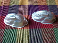"VINTAGE PR ALUMINUM BUNNY JELLO MOULD MADE IN ENGLAND 4 1/2"" 1960'S EASTER MOLD"