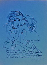 """Andy Warhol """"HER CIGAR"""" Hand Signed in pencil with COA 1955"""