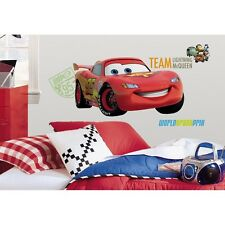 "Disney CARS 2 Giant 39"" LIGHTNING MCQUEEN Wall Decal Room Decor Sticker Mural r6"