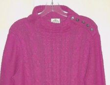 St Johns Bay Party Pink Confetti  Cable Knit Long Sleeve Sweater 1X NWTS!
