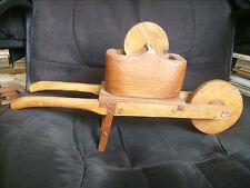 Belle brouette de rémouleur décorative en bois