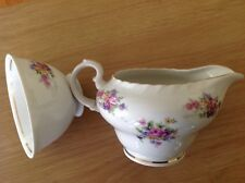 Marlina TOSCPORT CHINA Czechoslovakia CREAMER PITCHER and Tea Cup. ~Gold