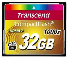 32GB Transcend Ultimate 1000x CompactFlash Memory Card UDMA 7