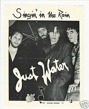 NYC Punk 70's Promo Poster / JUST WATER - Singin' In The Rain : BRANDED