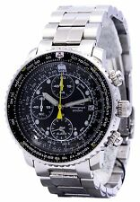 Seiko Flight Alarm Chronograph SNA411P1 Pilot's Flight Master Men's Watch