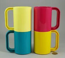 4 Ingrid Chicago Retro Plastic Mugs Excellent!
