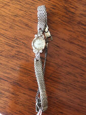VINTAGE 1950'S 14KT WHITE GOLD AND DIAMOND ELGIN WOMAN'S WATCH