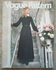 Vintage Intl Vogue Pattern magazine catalog Dec 1970's Jan 1971