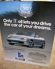 PORSCHE MOBIL 1 OFFICIAL BOXSTER SWEEPSTAKES DEALER ADVERTISING SIGN POSTER 1999