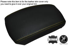 YELLOW STITCHING LEATHER SKIN ARMREST SKIN COVER FITS KIA SPORTAGE 2004-2010