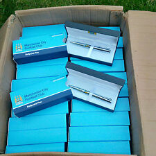 100 x Man City Executive Pen Sets - Wholesale/Job Lot/Bulk - Free UK Postage