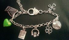 Stunning Irish Claddagh harp shamrock Celtic charm bracelet gift with gift box