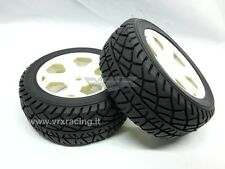 COPPIA RUOTE STRADALE COMPLETE ESAGONO 12mm 1/10 ON ROAD RALLY 2PCS 10546 VRX