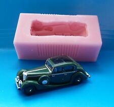 3D CLASSIC CAR SS JAGUAR CAR SILICONE MOULD FOR CAKE TOPPERS CHOCOLATE, CLAY ETC
