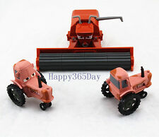 Disney Pixar Cars Diecast Metal Frank Harvester + 2xTractor Heifer Car Set Toy