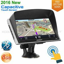 XGODY 7'' Truck Lorry Car SAT NAV 8GB Bluetooth AV-IN GPS Navigation Free Map