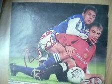 Original hand signed press cutting-mick stockwell, anglais ancien footballeur