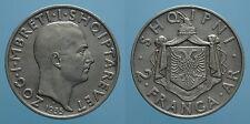 ALBANIA 2 FRANGA ARI 1935 R ZOG I BB