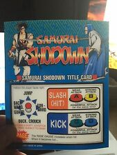 Samurai Showdown Neo Geo Mini Arcade Marquee
