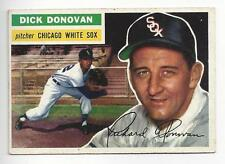 2 Dick Donovan 1956 Topps ML Baseball Card # 18 Grey & White Back