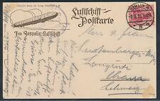 Zeppelin Luftschiff Bodensee 1919 Bordpostkarte Berlin nach Schweiz (S13744)